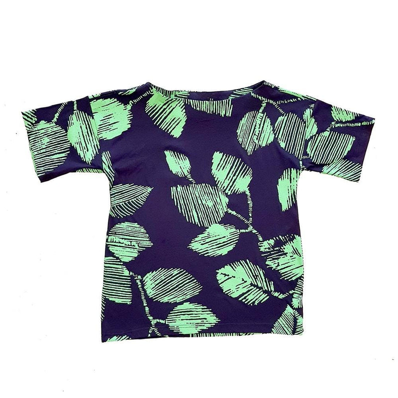 Dragstar Oversized Tee - Green Leaf / Navy