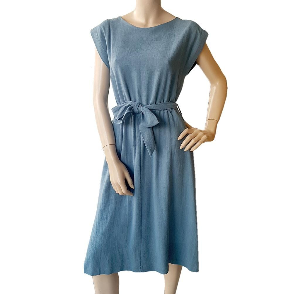 Dragstar Bateau Dress - teal blue Dragstar Ethical Womens Slow fashion made in Sydney. Australian made . Slow fashion market