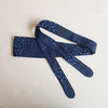 Dragstar Obi Belt - Japanese Dot Print Blue
