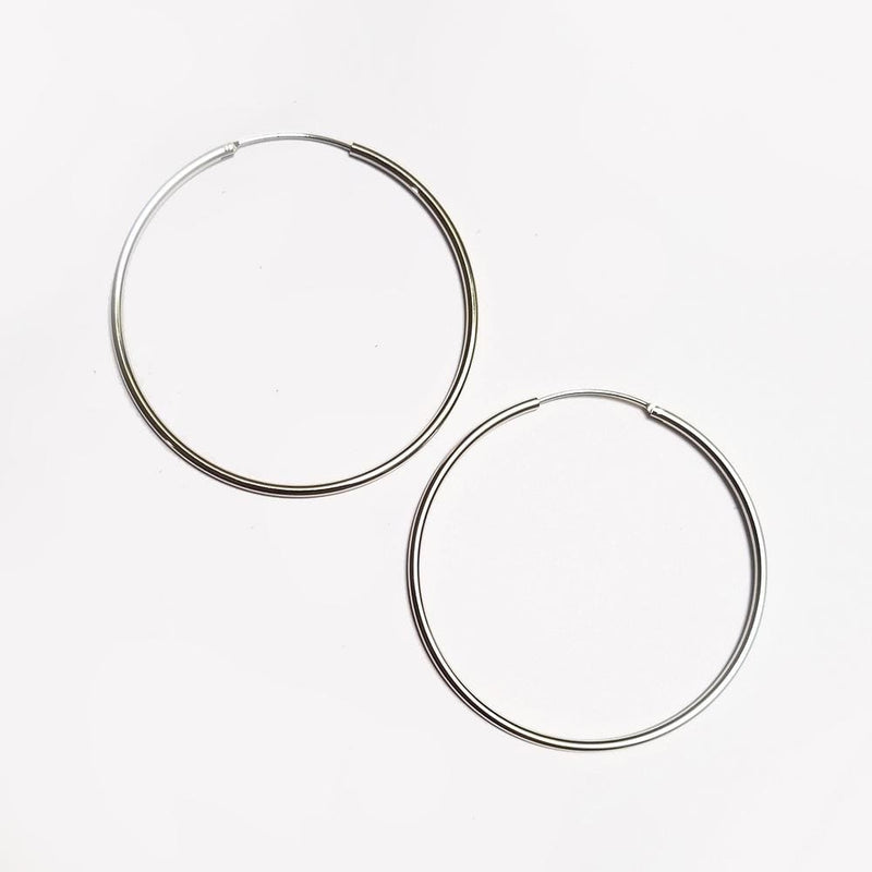 Sterling Silver plated Hoops