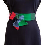 Striped Tie Belt - Red, Green & Blue
