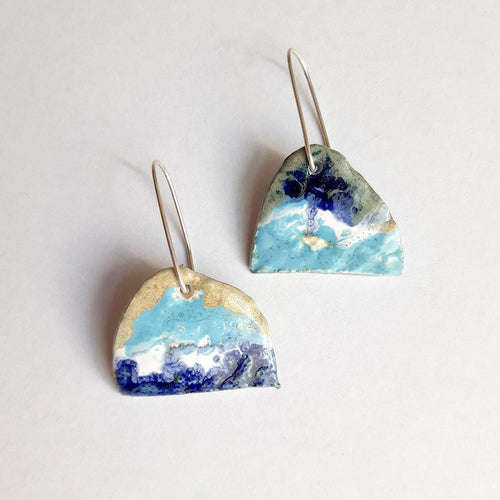 joart ceramic handmade in sydney one of a kind earrings