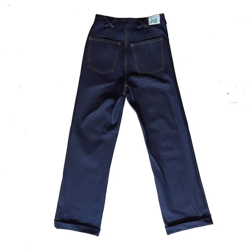 Dragstar Wide Leg Zip Front Jeans in Dark Denim
