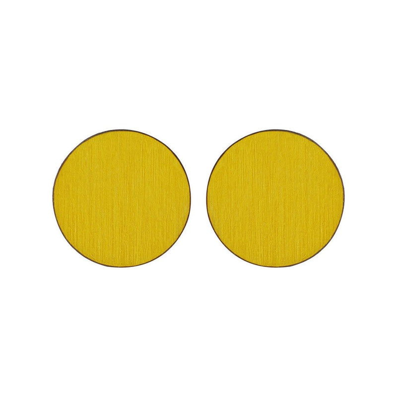 Scoops Stud Earrings - Yellow