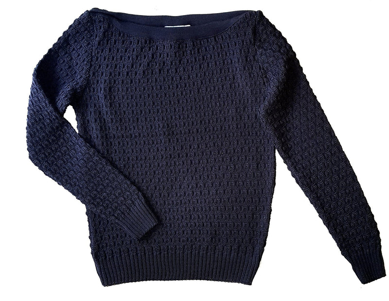 Dragstar Voyager Jumper - Navy Merino Wool Ethical Womens Fashion