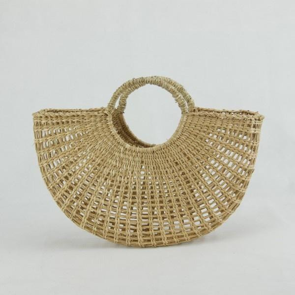 Small Seagrass Half Circle Basket