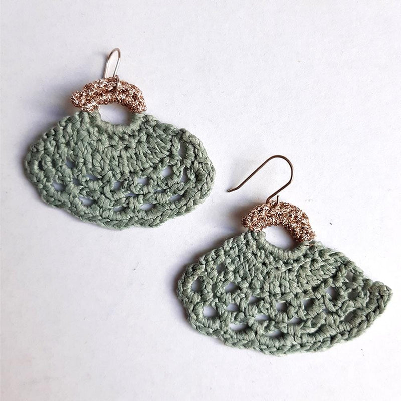 Nicole Barakat crochet handmade in sydney one of a kind earrings