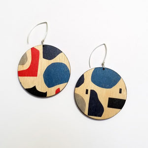 Scoops Abstract Circle Earrings - Bright Tone