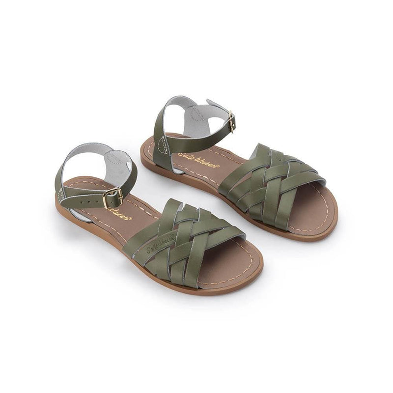 Salt Water Retro Sandals - Olive