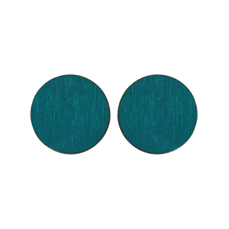 Scoops Stud Earrings - Dark Green