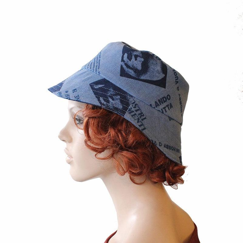 Retro Print Denim Hat