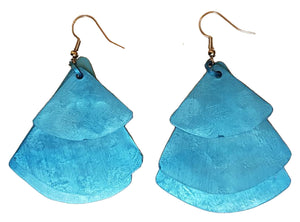Monica Fan Earrings - Turquoise