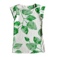 Dragstar Captain Tee - Green Leaf / White
