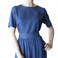 Dragstar Cute As A Button Top - Blue  ethically made in Sydney