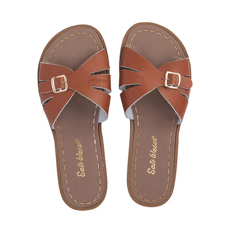Salt Water Classic Slides - Tan