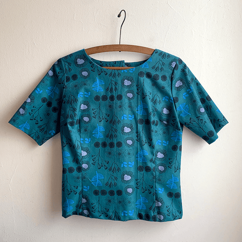 Cute As A Button Top - After the Rain (teal)