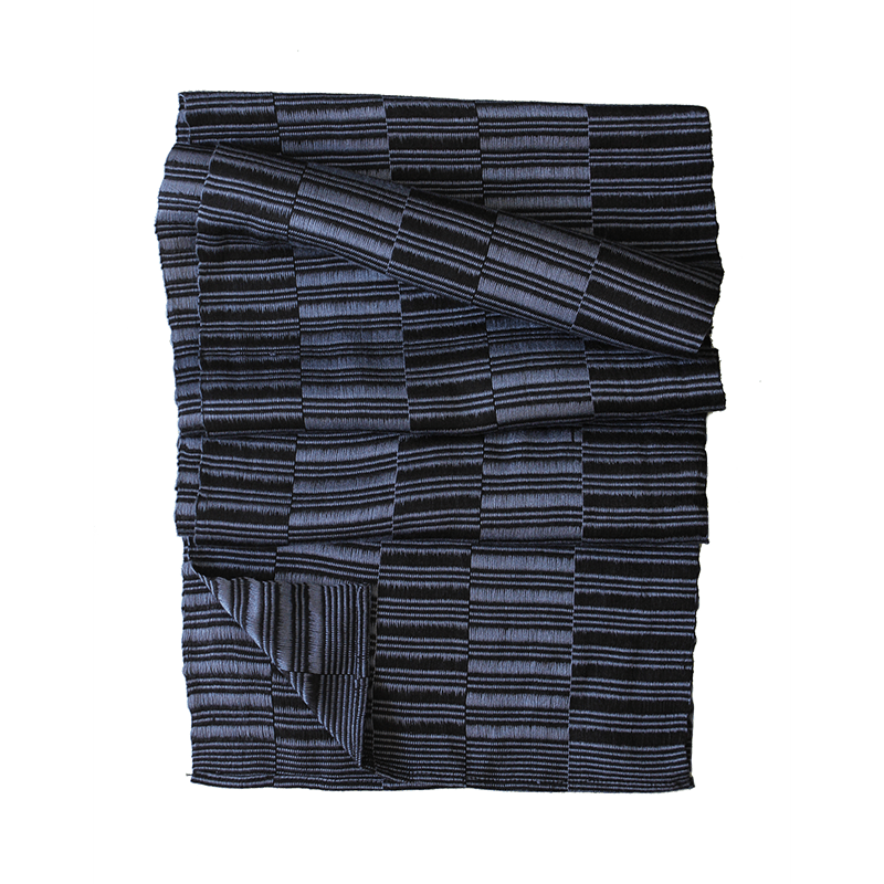 Weftshop Rayon Scarf - Black/blue