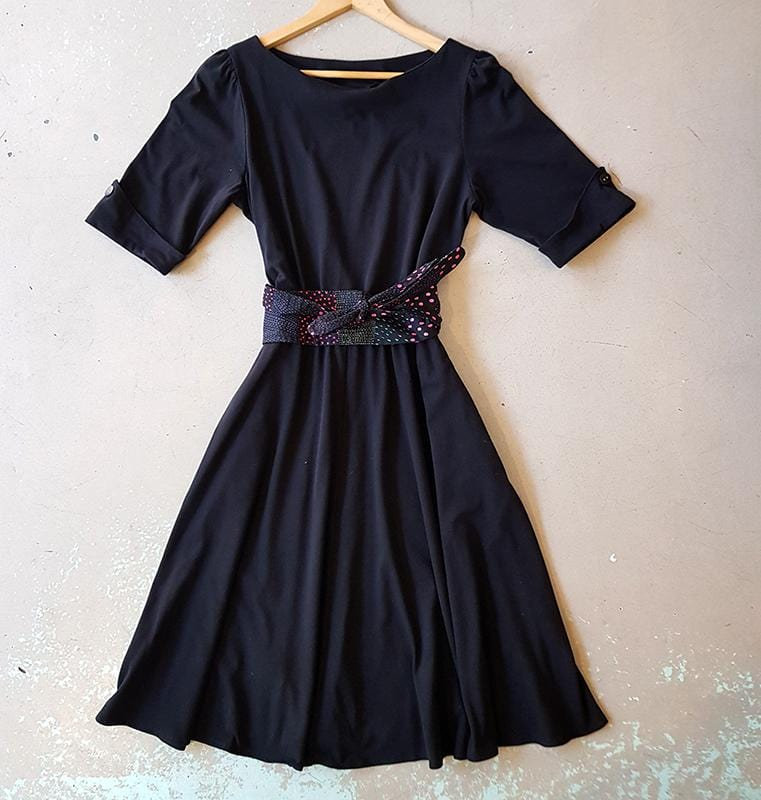 Amy Dress - Black Cotton Jersey