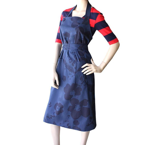 Dragstar Navy Floral Wrap around Apron Dress Ethical Womens Fashion Slow Fashion Made in Sydney Australia