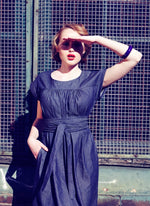 Dragstar Smock Dress - Dark Denim Ethical Fashion Slow Fashion made in Sydney