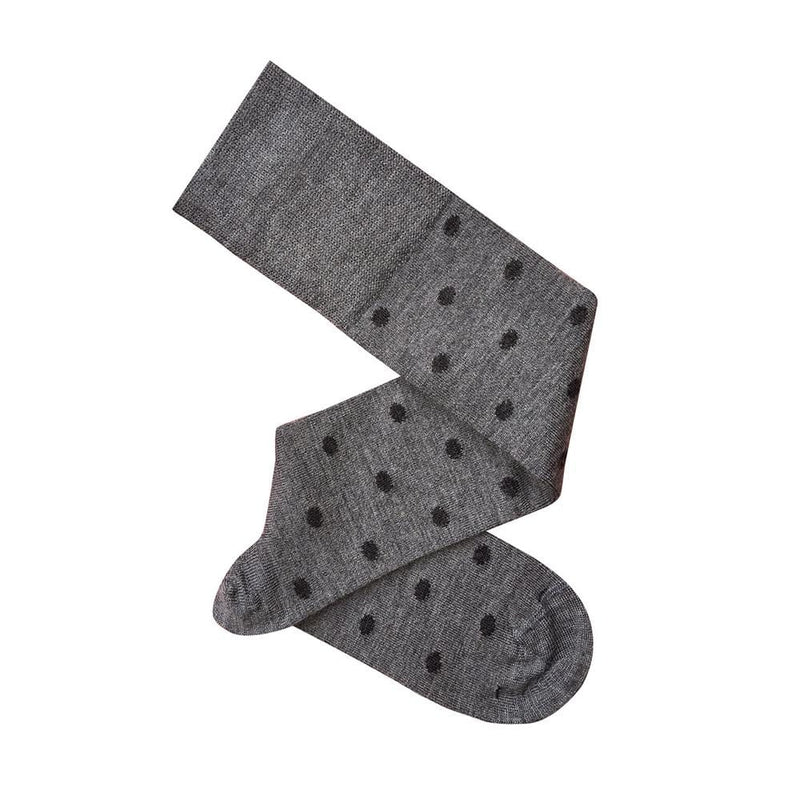 Tightology Dotty Knee High Socks - Grey