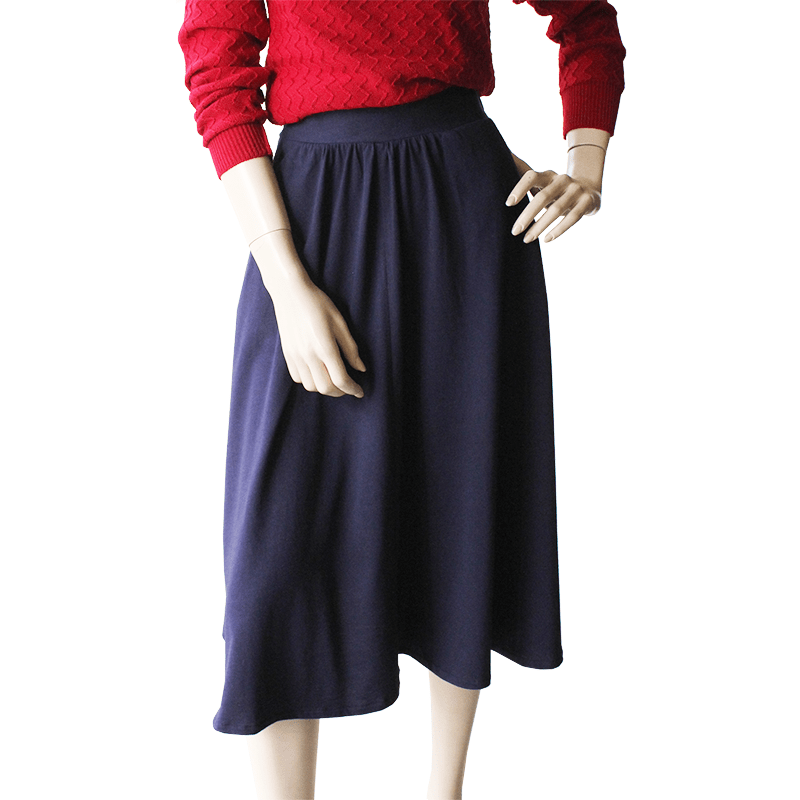 My New Favourite Skirt - navy cotton jersey Dragstar ethical clothing locally made in Sydney