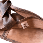 Leather Double Wrap Belt - Stonewash Tan
