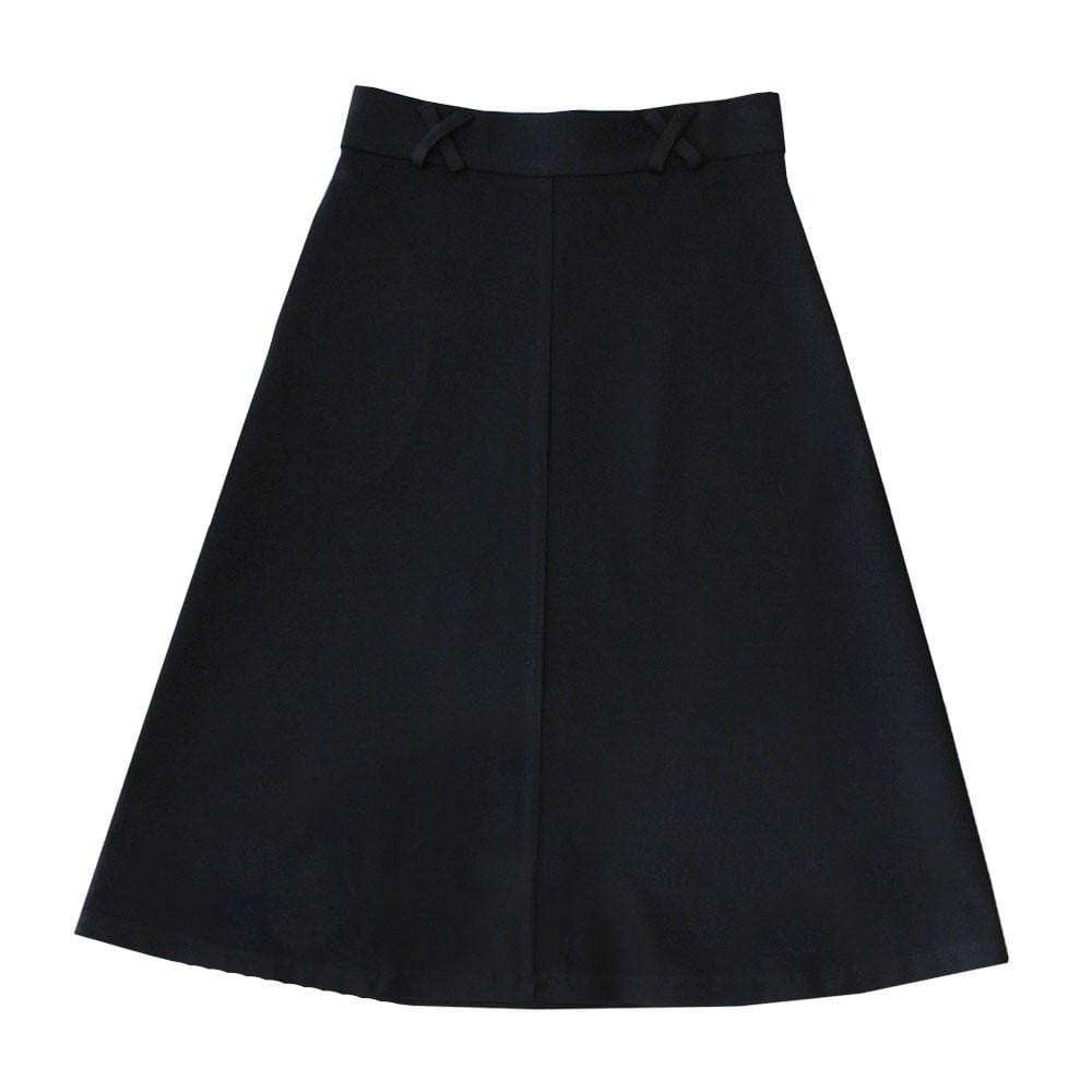 Dragstar Jersey  Aline Skirt in Black Ponte Ethical Womens Fashion Slow Fashion