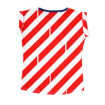 Striped Tee - Red