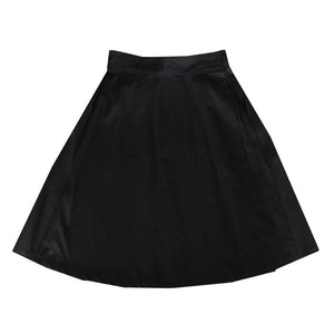 Double Wrap Skirt - Black Cotton Drill