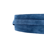 Dragstar Leather Double Tie Belt - Blue Suede