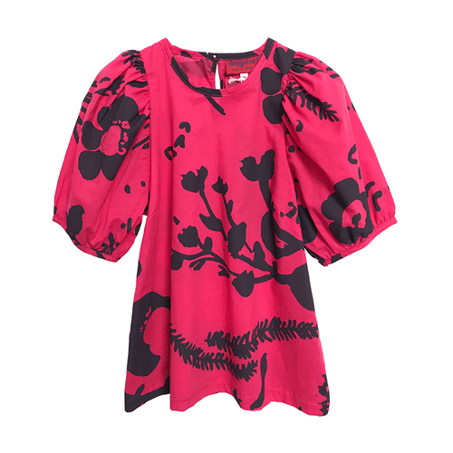 Dragstar Trapeze Top - Pink Botanical hand made womens fashion Made in Australia Sydney, Ethical slow fashion Newtown