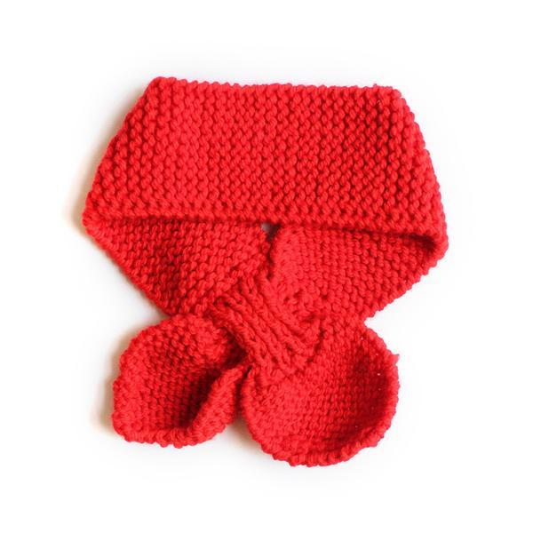 Hand Knitted Neck Warmer - Red