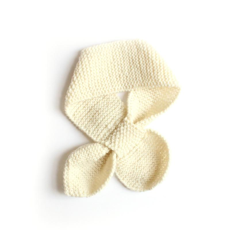 Hand knitted Neck Warmer- Cream