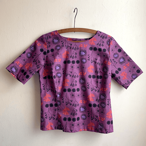 Cute As A Button Top - After the Rain (plum)