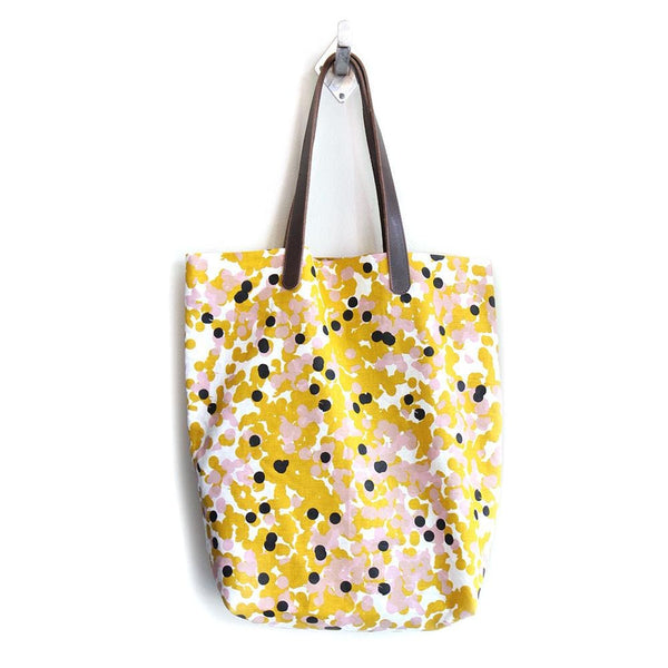Tinker Hand Screen Printed oversized Bag - Mustard Confetti
