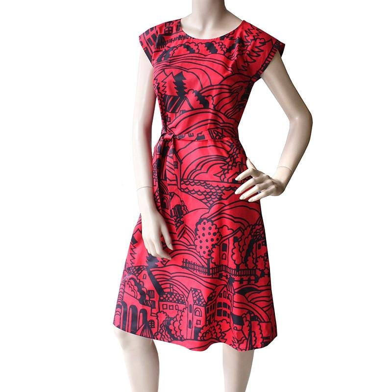 Saskia Dress - Village Print