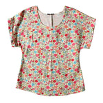 Kimono Sleeve Top - Milky Floral Dragstar Ethical womens fashion made in Sydney