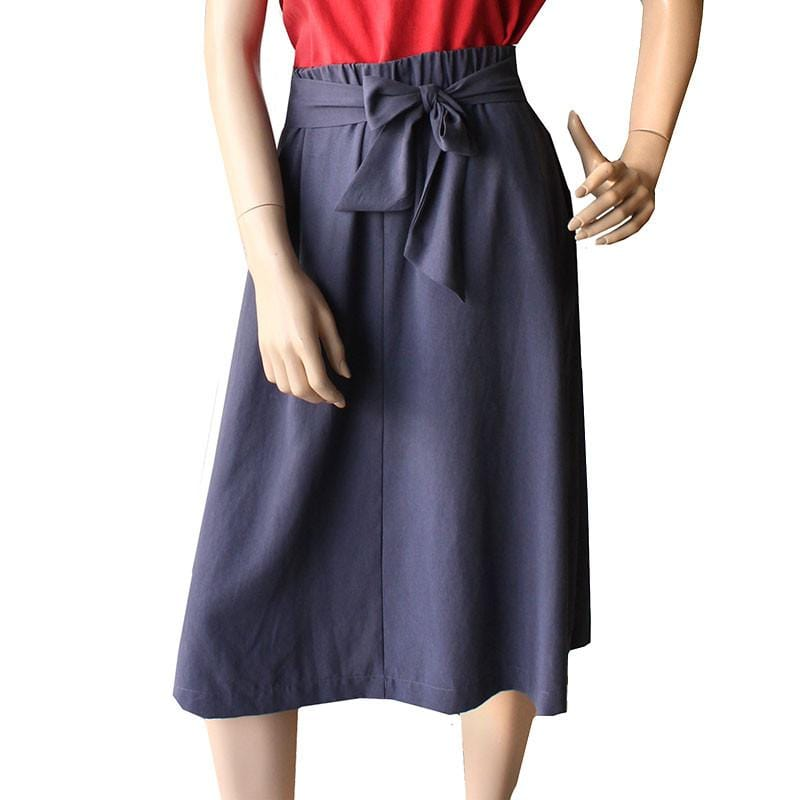 Charcoal Tencel Gather Skirt