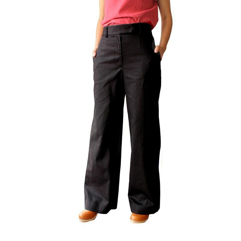 Parade Pants - Black Wide leg pants made in AUSTRALIA Dragstar Ethical womens fashion made in Sydney