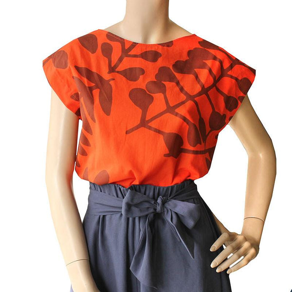 Orange Branch Top