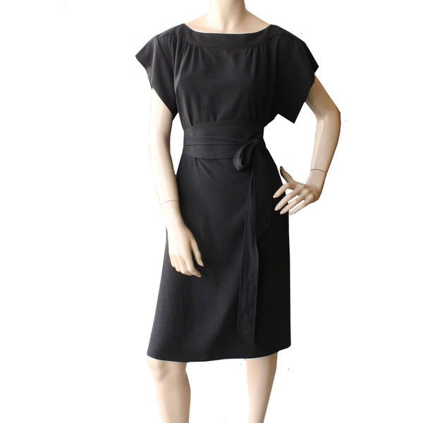 Tencel Smock Dress - black