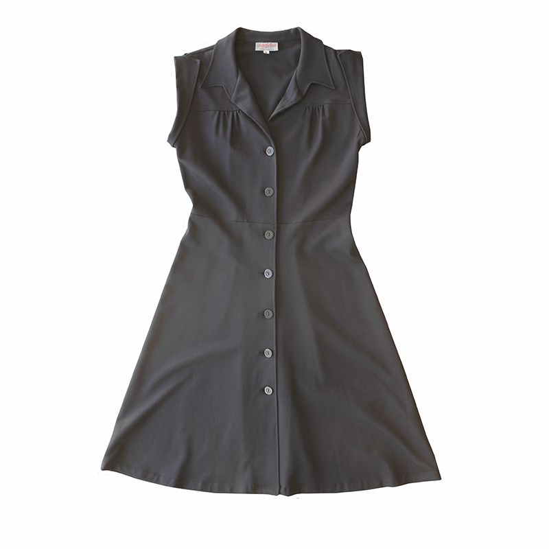 Dragstar  Daily Botton front Dress - Navy Ponte Ethical Rocker billie fashion Slow Fashion Made in Sydney australia