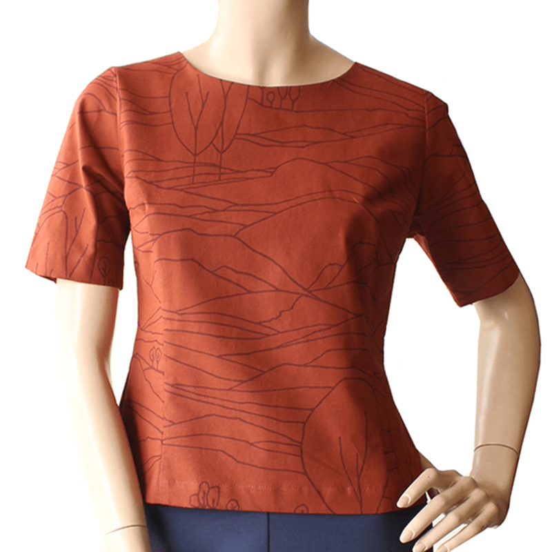 Cute as a button top LINESCAPE