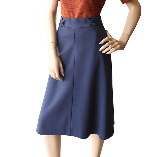 Dragstar Jersey A-line Skirt Blue Ponte Ethical Womens Fashion Made in Sydney Slow Fashion Newtown