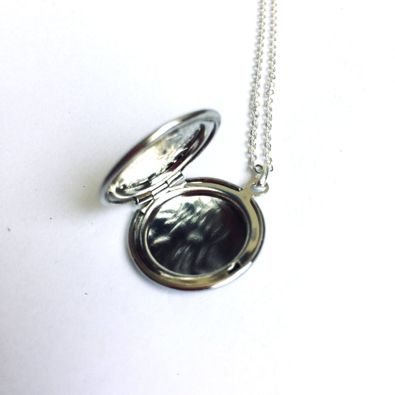 Large Silver Locket - round