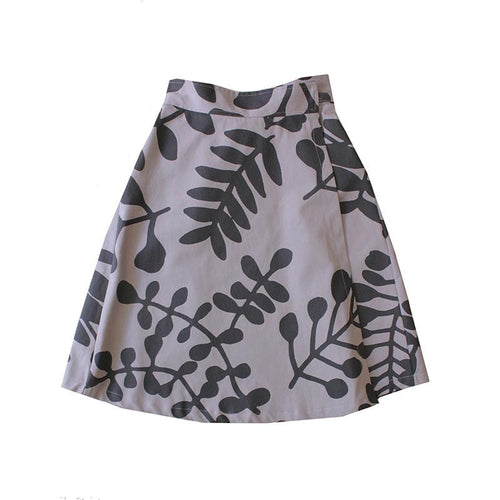 Dragstar Double Wrap Skirt - Branch Print Ethical Fashion made in Sydney Slow Fashion made in Newtown Hand Screen printed