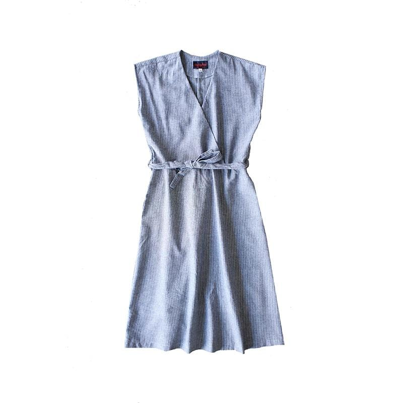 Dragstar Happy Dress - textured Stripe Cotton Ethical Womens Fashion made in Sydney