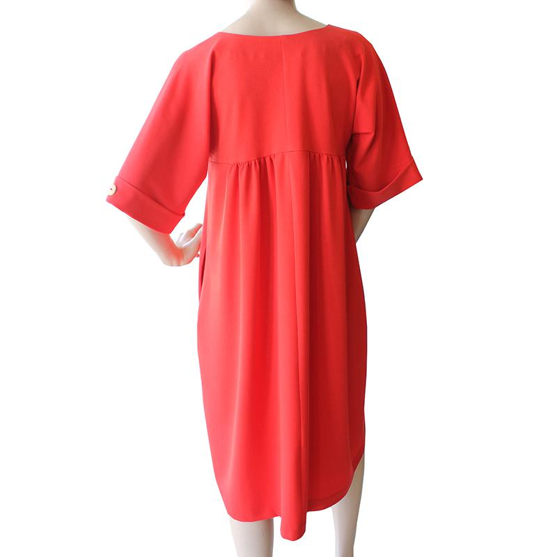Dragstar Tokyo Dress - Bright Red Ethical Slow Womens fashion Made in Sydney Australia