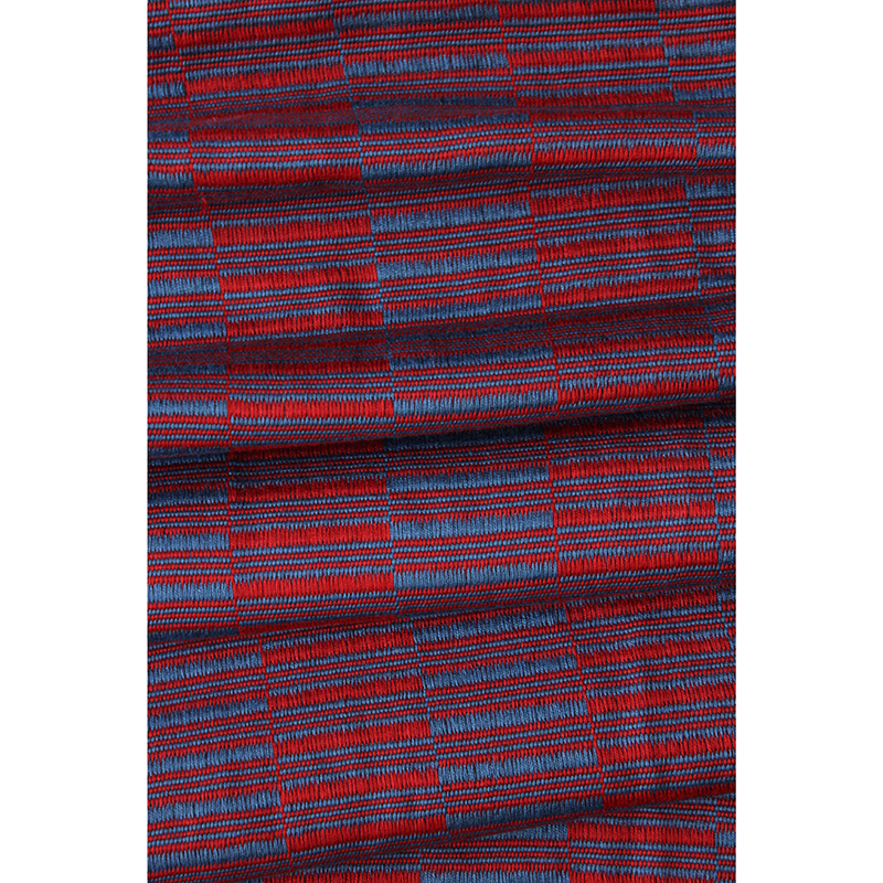 Weftshop Rayon Scarf - Red/blue
